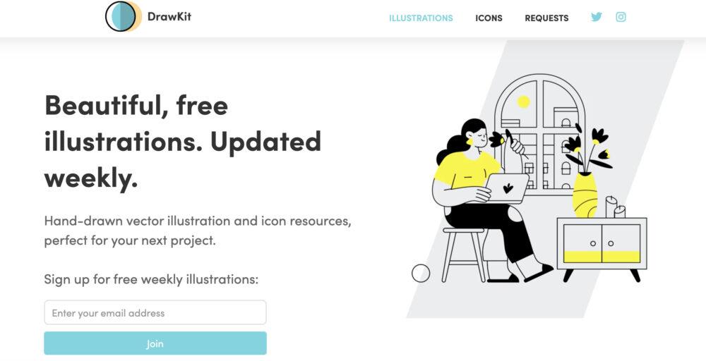 DrawKitのサイト画像