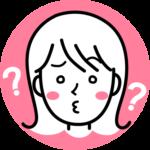 疑問をもっている表情の女の子の顔のアイコン