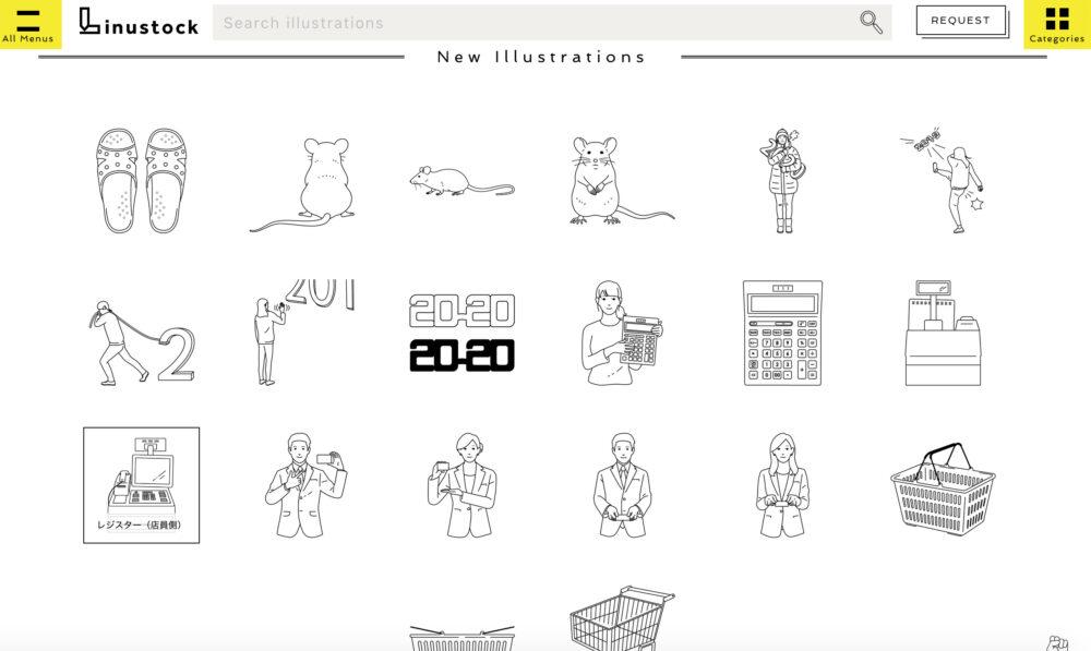 linustockサイト画像