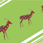 鹿のシルエットイラスト