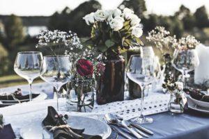 結婚式テーブルの画像