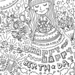 happybirthdayぺん画イラスト
