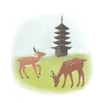 鹿と五重塔